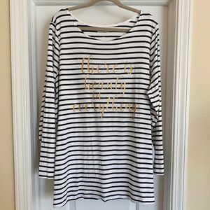 Size 1X (22-24) Woman Within Long Sleeve Shirt